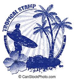 tropikus, bélyeg