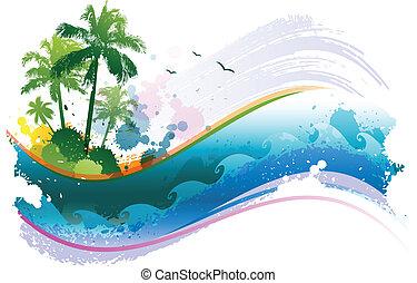 tropikus, elvont, háttér