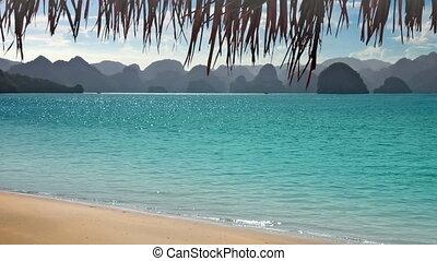 tropikus, hegyek, tengerpart