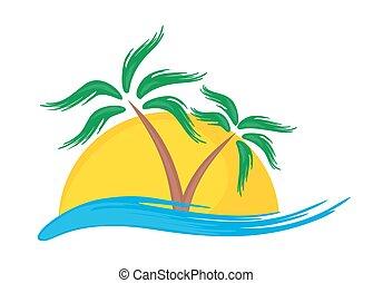 tropikus, jel, island.