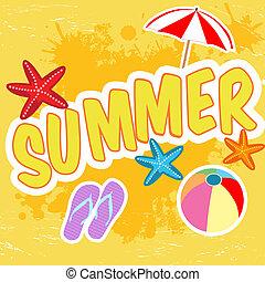 tropikus, nyár, poszter