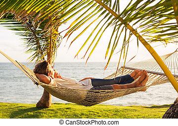 tropikus, párosít, függőágy, bágyasztó