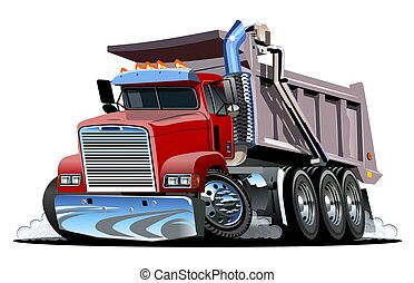 truck., karikatúra, vektor, lerak