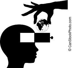 tudás, elme, diák, tanul, világ, oktatás