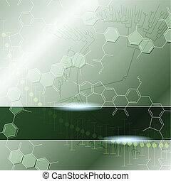 tudomány, zöld háttér
