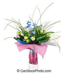 tulipánok, csokor, más, írisz, virág, flowers.