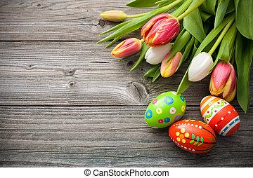 tulipánok, ikra, húsvét