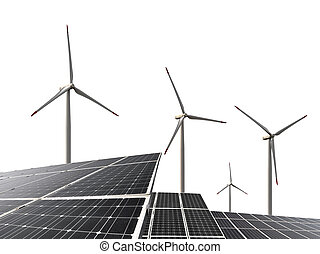 turbines, felteker, fanyergek, nap-