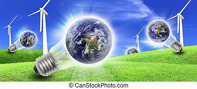 turbines, felteker, termelés, tanya, világ, energia