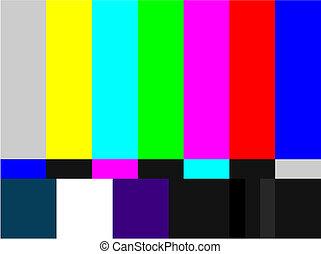 tv, rács, színezett, jelez