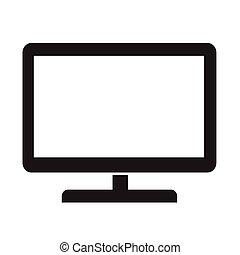 tv, vektor, ábra, ikon