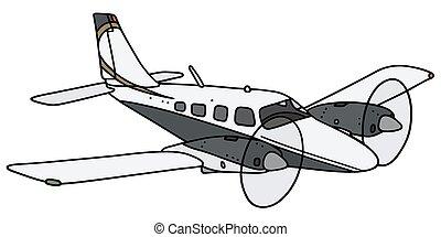 twin-engine, repülőgép
