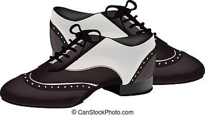 two-tone, cipők, tánc
