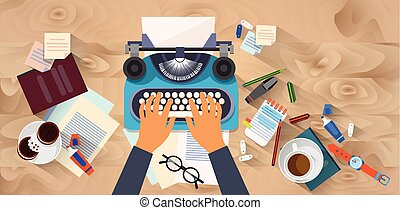 typewrite, fából való, író, szöveg, struktúra, kilátás, tető, gépelés, szög, kézbesít, író, íróasztal, blog