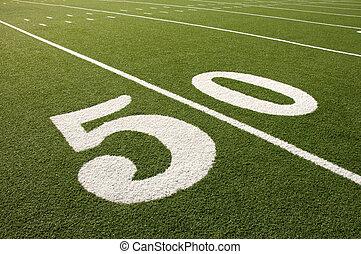 udvar, labdarúgás, 50, mező, amerikai, egyenes