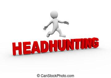 ugrás, headhunting, 3, ember