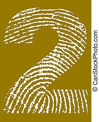 ujjlenyomat, abc, 2, -, szám
