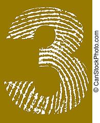 ujjlenyomat, abc, 3, -, szám