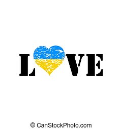 ukrán, love., lobogó, belső, szív