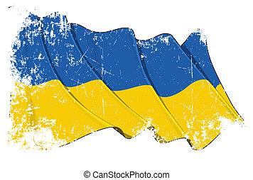 ukraine lobogó, grunge
