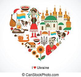 ukrajna, szív, alapismeretek, szeret, ikonok, -