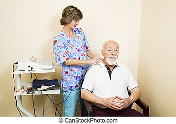 ultrahang, senior bábu, terápia