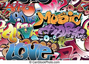 urban graffiti, seamless, háttér