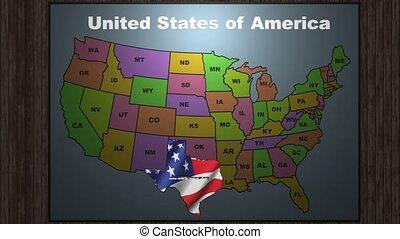 usa, texas, evez, egyesült államok, térkép, megrövidítések, ki