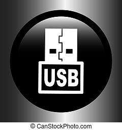 usb, ikon