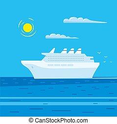 utas óceánjáró, cirkálás