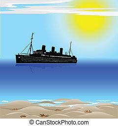utas hajó, óceán