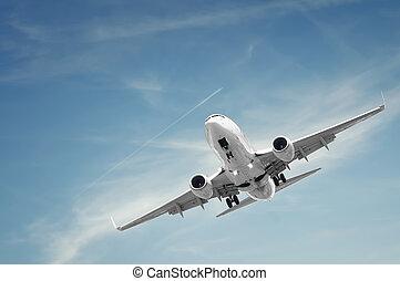 utas, repülőgép szárazföld