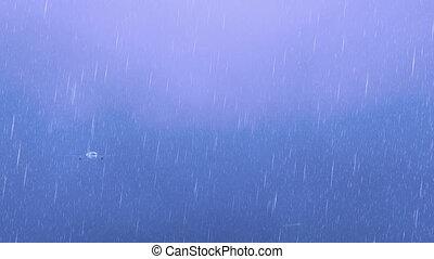 utas utasszállító repülőgép, ég, villámlás, 4k, megrohamoz, éjszaka