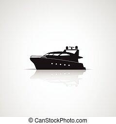 utazás, -, ábra, címke, vektor, csónakázik