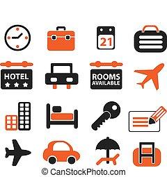 utazás, állhatatos, cégtábla