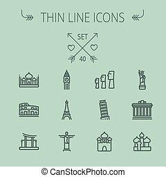 utazás, állhatatos, egyenes, ikon, híg