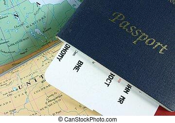 utazás, útlevél
