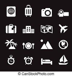 utazás, ünnep, ikonok