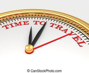 utazás, arc, idő, szavak, óra