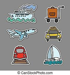 utazás, böllér, szállít