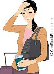utazás, fejfájás