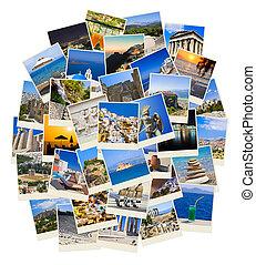 utazás, görögország, fénykép, kazal