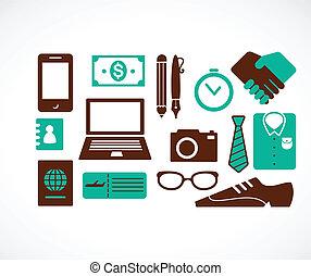 utazás, gyűjtés, ügy icons