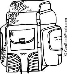 utazás, hátizsák