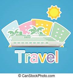 utazás, hajó cruise