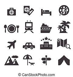 utazás, ikon