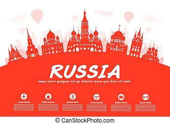 utazás, oroszország, landmarks.