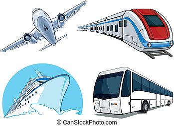 utazás, szállítás, airplan, -, állhatatos