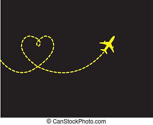 utazás, szeret, fogalom