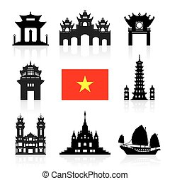 utazás, vietnam, landmarks.